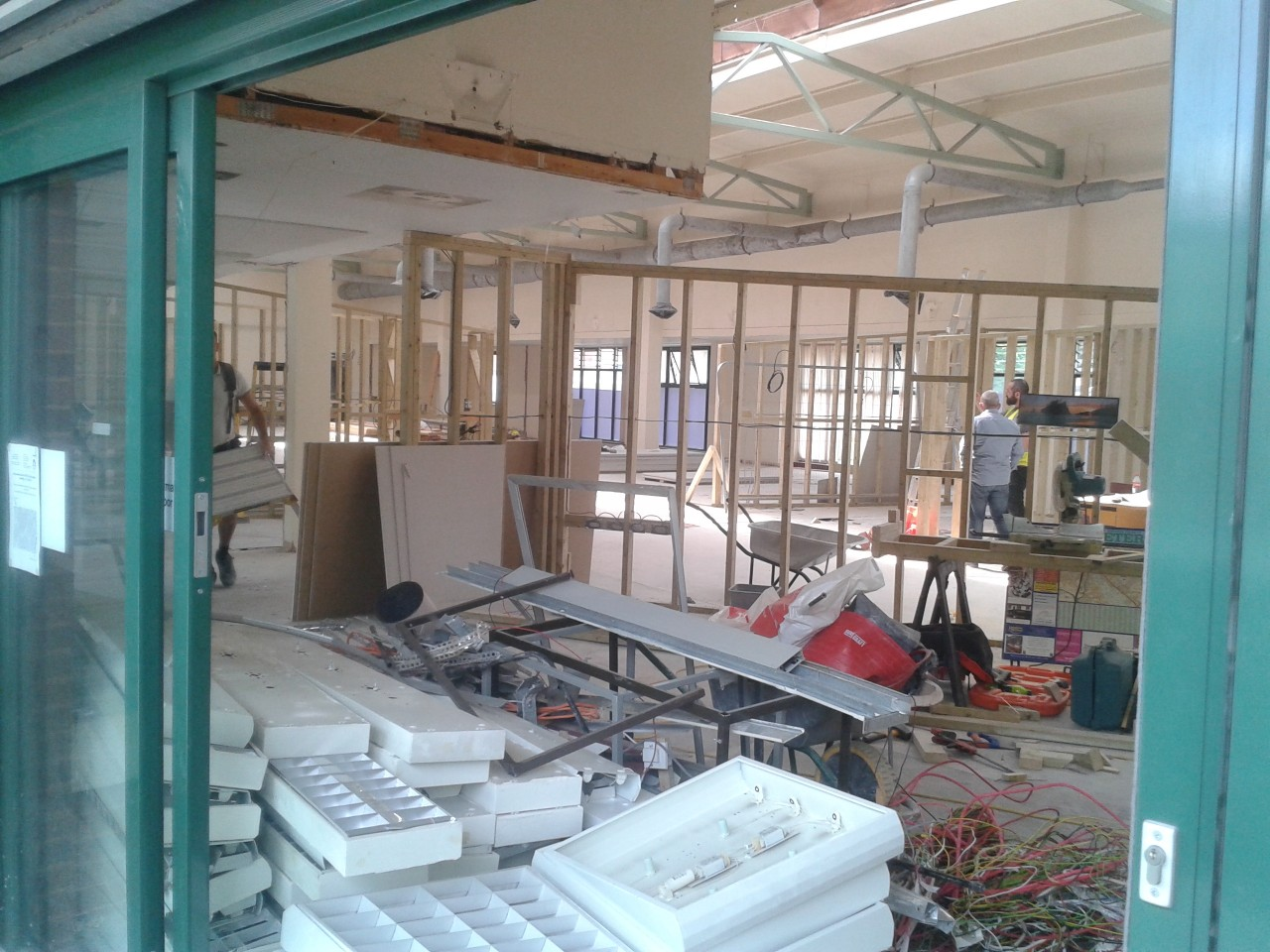 Work continues apace at the Wellbeing Hub