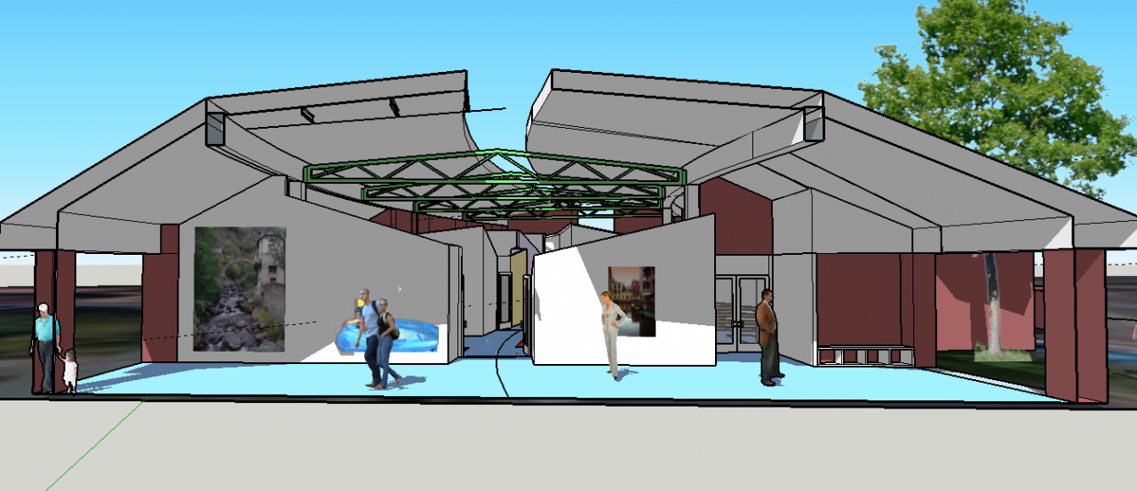 Digital imagery of the proposed reception area