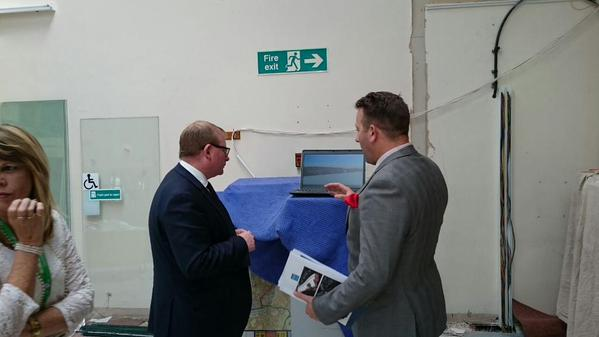 Marcus Jones - Parliamentary Under Secretary of State from CLG visiting the hub