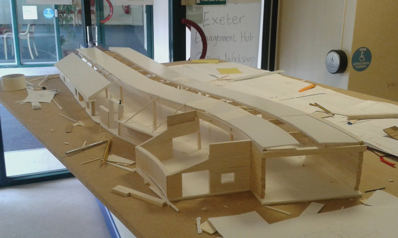 Work in progress - development model being constructed for the new hub